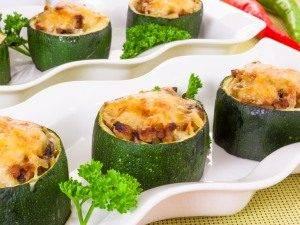 Цукини, фаршированные мясом, грибами и рисом - 8