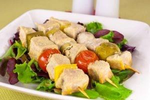 Шашлычки из свинины с овощами и грибами - 5
