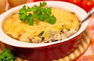 Запеканка с куриным филе, грибами и картофельным пюре - 5