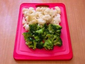 Макароны с брокколи, цветной капустой и куриным филе - 3