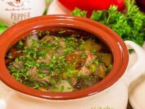 Суп в горшочке с говядиной и овощами - 3