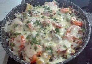 Картофель с мясом на сковороде по-французски - 7