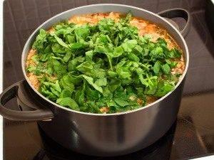 Суп с фрикадельками и шпинатом - 4