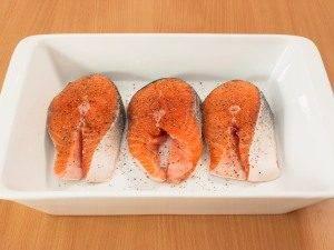 Семга под шпинатным соусом - 0