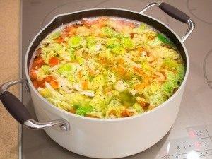 Суп с савойской капустой и рисом - 1