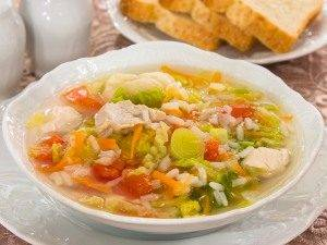 Суп с савойской капустой и рисом - 2