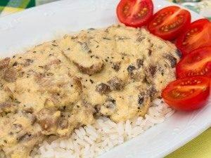 Свинина с грибами в сливочно-сырном соусе - 7