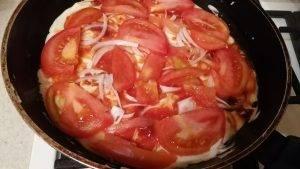 Быстрая пицца на сковороде на основе с майонезом - 5
