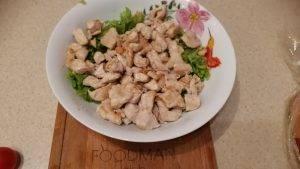 Острый куриный Цезарь с яичным соусом - 5