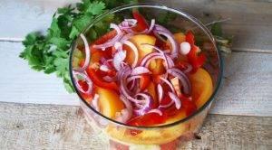 Салат из овощей по-грузински - 1
