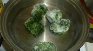 Салат из шпината с крабовым мясом - 0