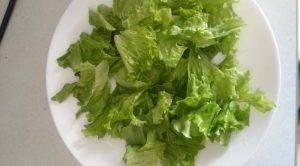 Салат с жареным адыгейским сыром - 0
