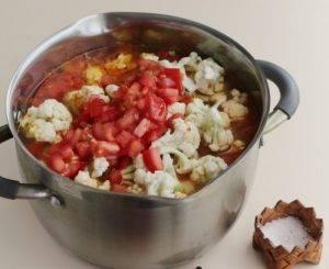 Диетический суп из цветной капусты с чечевицей - 1