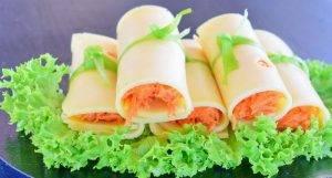 Сырные рулетики с морковью - 7