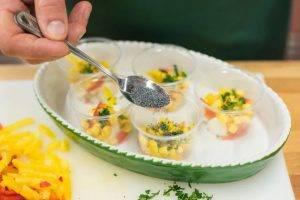 Заливное с моцареллой, овощами и маком - 2
