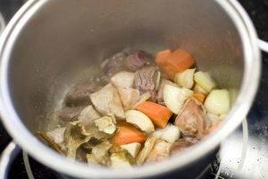 Жареные вареники с грибами и мясом - 0