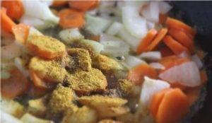 Экспресс-суп из консервированной печени с горошком - 0