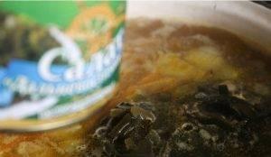 Суп из морской капусты с рисом - 0