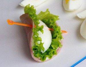 Закуска с ветчиной и яйцом - 3