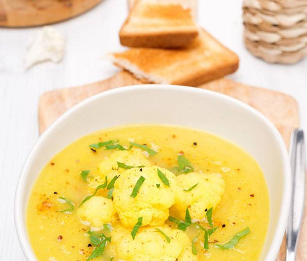 суп с цветной капустой с сыром