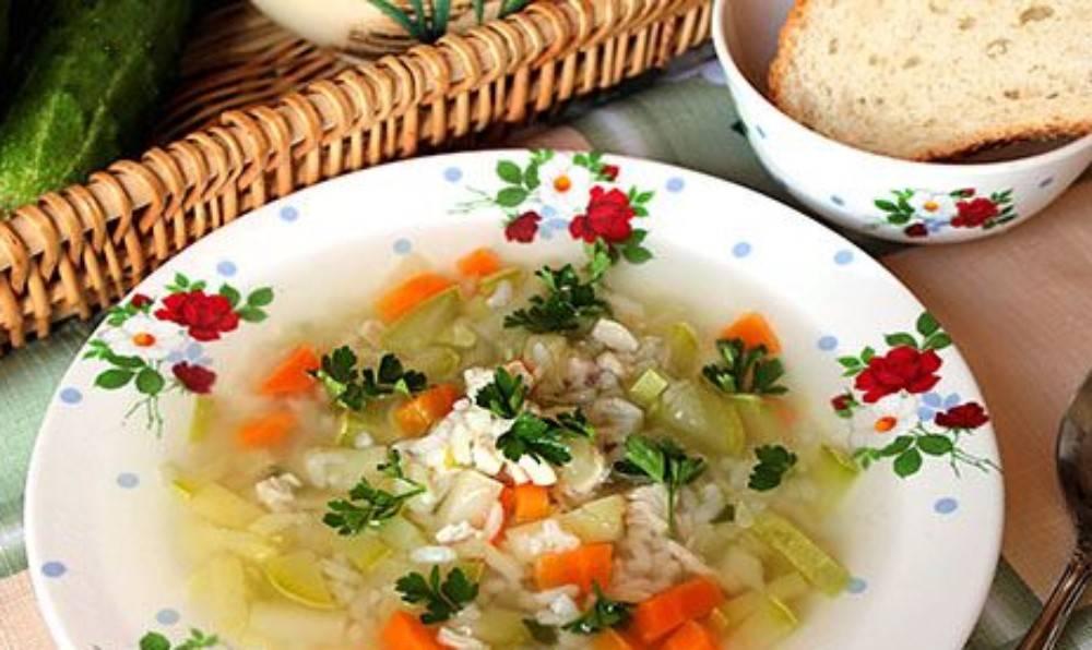 Диетический суп из кабаков