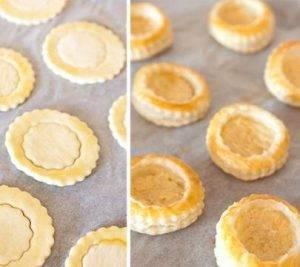 Тарталетки из слоеного теста с лососем - 2