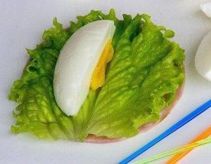 Закуска с ветчиной и яйцом - 2