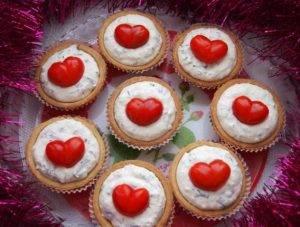 Тарталетки «Красное сердце» - 4