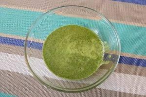 Шпинатные блины с припеком из яйца и зеленого лука - 0