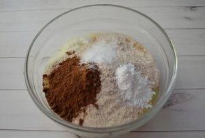 Шоколадные оладьи с курагой и миндалем - 1