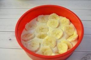 Творожная запеканка с бананами - 1