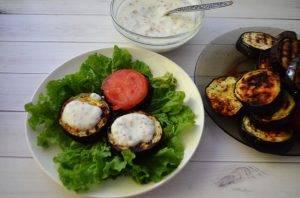 Овощная закуска с баклажаном и помидором - 4