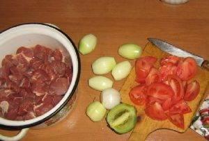 Шашлык из говядины с киви - 0