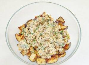 Салат с баклажанами и грецкими орехами - 2
