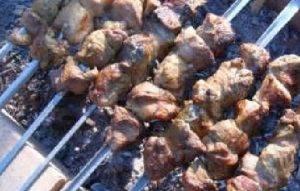 Шашлык из говядины с киви - 2