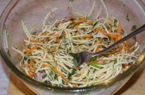 Салат из зеленой редьки - 2