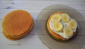 Вафельный торт с бананом - 2