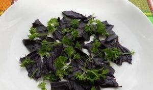 Овощной салат с сырыми шампиньонами - 0