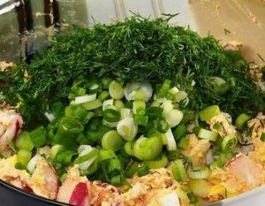 Салат с редисом и творогом - 2