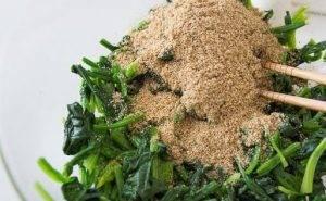 Японский салат из шпината - 2