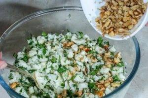 Салат с цветной капустой и грецким орехом - 1