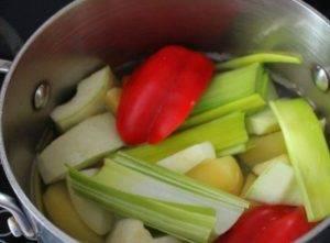 Овощной суп-пюре с брынзой - 1