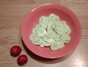 Салат из редиса, огурца и кукурузы - 0