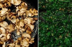 Яичница со шпинатом и грибами в духовке - 0