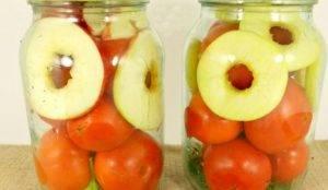 Консервированные помидоры с яблоками - 1
