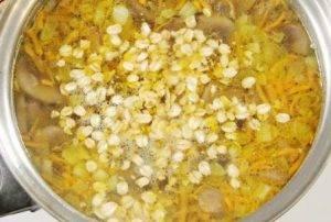 Овсяный суп с грибами - 2