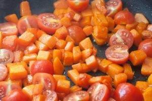 Паста с тыквой и креветками - 1