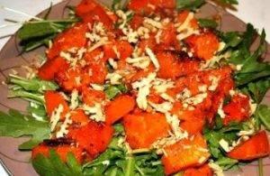 Салат с тыквой и грецкими орехами - 1