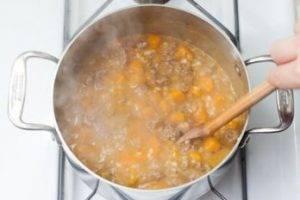 Суп с бараниной, тыквой и перловкой - 1