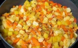 Овощное рагу с сыром - 2
